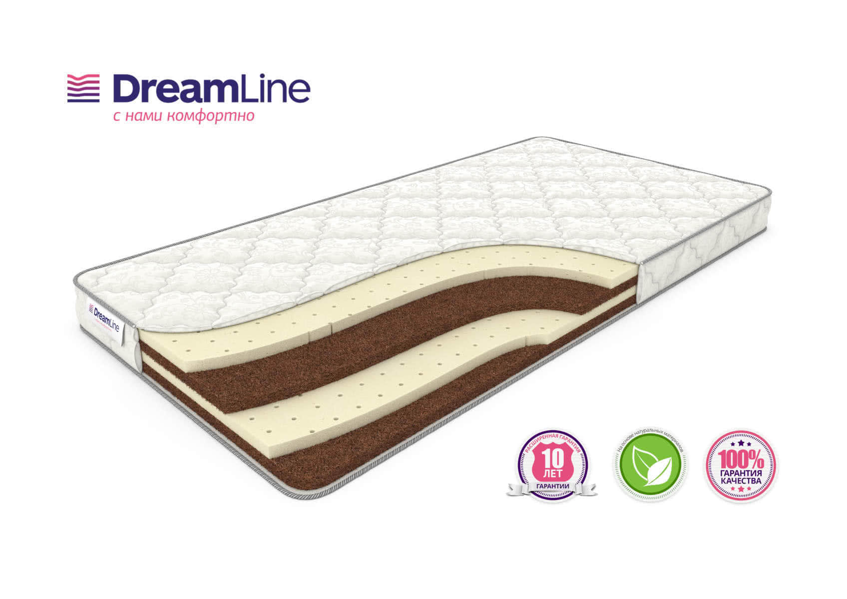 Матрас DreamLine Springless Mix Slim