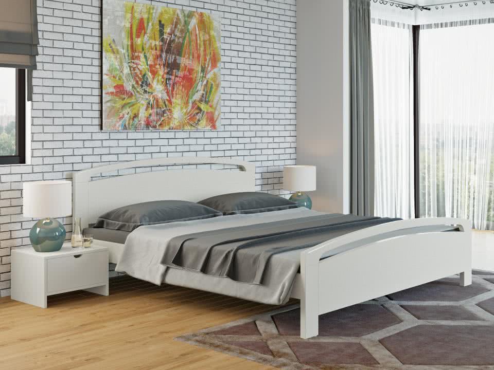 Кровать Райтон Веста 1-R береза (эмаль)